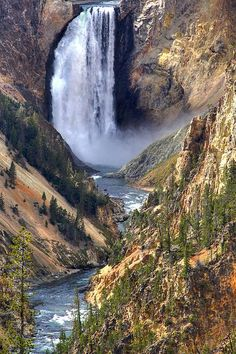 Lower Yellowstone Falls - Yellowstone National Park, Wyoming