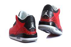 innovative design 0b0ea 5b156 Nike Air Jordan 3 Red Bull Sport Shoes for Men 01 03 Air Jordan Sneakers,  Sneakers For