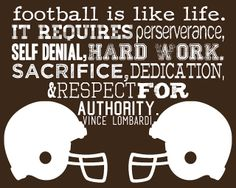 More Than Sayings: Football is like life