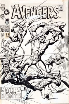 Original Comic Art:Covers, John Buscema and George Roussos The Avengers #55 Masters of Evil Cover Original Art (Marvel, 1968).... Image #1