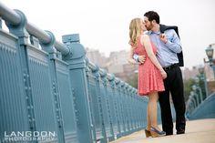 Erin & Evan | Ben Franklin Bridge | Philadelphia Engagement Shoot