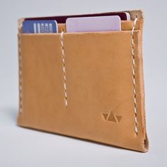 Vegetable Tanned Leather Passport or Field Notes Holder-SR