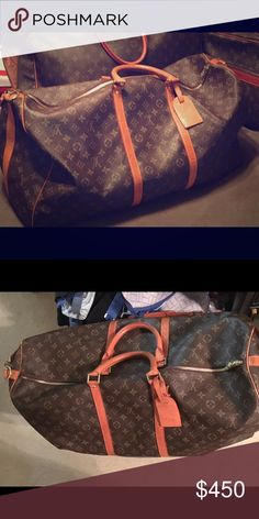 Authentic LV monogrammed canvas Carry all Authentic LV monogrammed canvas carry all- great shape inside and out! Leather has oxidized from use and age but integrity of overall condition  has not been compromised at all- this is such a timeless classic bag that you will use and have forever !!! Louis Vuitton Bags Travel Bags