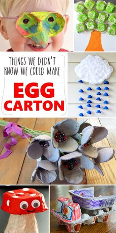 Super fun - egg carton crafts for kids Green Crafts For Kids, Crafts For Kids To Make, Craft Activities For Kids, Preschool Crafts, Kids Crafts, Literacy Activities, Recycling Projects For Kids, Recycled Crafts Kids, Recycle Crafts