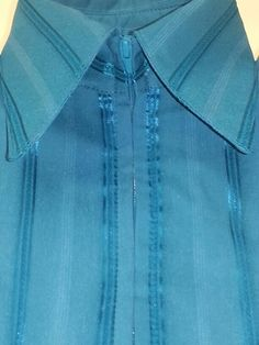 Show Diva Designs new dark teal green tone on tone pinstripe plain fitted shirt