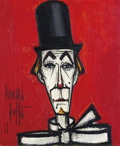 Find artworks by Bernard Buffet (French, 1928 - on MutualArt and find more works from galleries, museums and auction houses worldwide. Le Clown, Clown Faces, Buffet, Illustrator, Clown Paintings, Pierrot, Art Moderne, Cubism, French Art