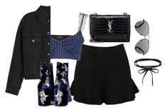 """""""Untitled #4588"""" by magsmccray on Polyvore featuring Sans Souci, Topshop, Yves Saint Laurent and Victoria Beckham"""