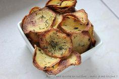 Je suis une quiche en cuisine... mais je me soigne !!: Chips de pommes de terre au four