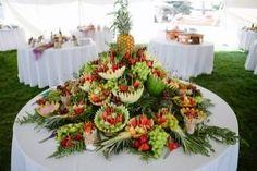 fruit table display fruit flies