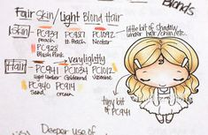 Prismacolor Skin/Hair Guide Book from deconstructing-jen