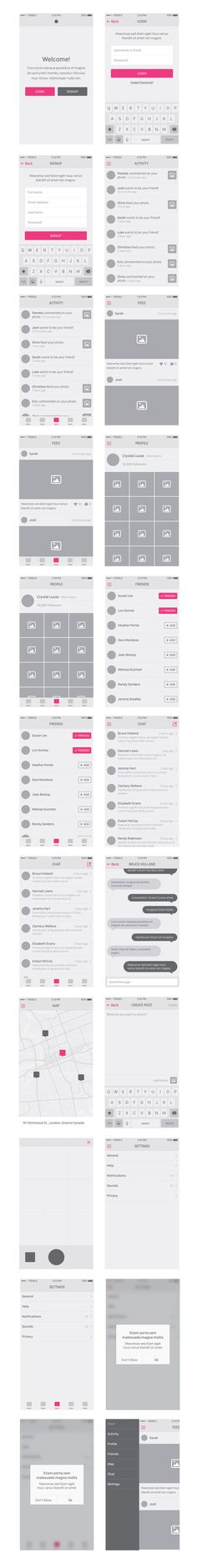 Snap: iOS 8 UI Wireframe Kit | GraphicsFuel | Premium & Free Graphic & Web Design Resources!