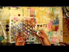 Watch Shawn Petite create this mixed media piece using Donna Downey Stencils and mediums.