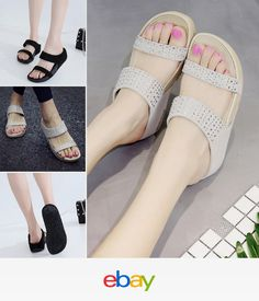 7a2040eb27a762 Fashion Women Lady Sandals Flip Flops Flats Slipper Casual Thick Sole Shoes  Comfortable Shoes