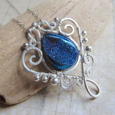 Upon a Midnight Clear 2013  Magical Blue Druzy by SihayaDesigns, $82.00