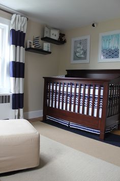 Project Nursery - Boy Nautical Nursery Crib View