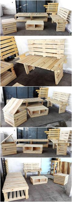 reused wood pallet furniture
