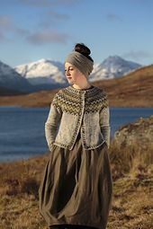 Còinneach pattern by Kate Davies Designs The Gaelic word for mossy, Còinneach is also the name of the famous hill above Balmaha whose green expanses afford a fine view of Loch Lomond Motif Fair Isle, Pull Jacquard, Icelandic Sweaters, Fair Isles, Fair Isle Knitting, Cardigan Pattern, Knitting Patterns Free, Cardigans For Women, Pulls