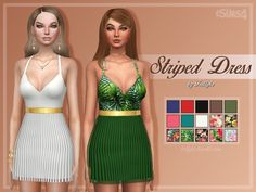 Sims 4 CC's - The Best: Striped Dress by Trillyke
