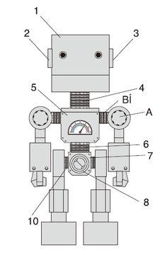 Cara membuat robot dari kertas belajar robot pinterest robot membuat robot dari kertas ccuart Image collections