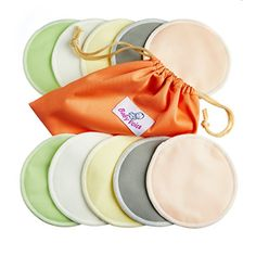 Reusable Nursing Pads 10 Pack | Organic Bamboo | Laundry & Travel Bag | Breastfeeding & Baby Sleeping Guide | Softest Breast Pads by BabyVoice. For price & product info go to: https://all4babies.co.business/reusable-nursing-pads-10-pack-organic-bamboo-laundry-travel-bag-breastfeeding-baby-sleeping-guide-softest-breast-pads-by-babyvoice/