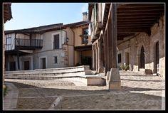 Plaza de Cuacos de Yuste (Cáceres), en la Comarca de la Vera