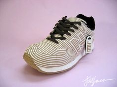 Sneakers made from paper.