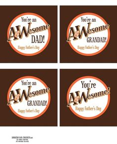 awesome dad printable