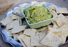 white bean and garlic scape dip - we get lots and lots of garlic scopes in the spring from our community shared agriculture (CSA) share and this sounds delicious