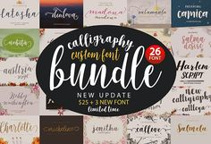 Font bundle + extended license   Caligraphy Bundle by GenesisLab Just for you faster, to get a product Caligraphy Bundle wonderful in a very limited time, do not get left behind agreement will be more than enough for a design project in your future. You would be hard pressed to find a more beautiful collection of hand-made script font. This set has 26 modern calligraphy fonts are perfect for creating a wedding invitation...