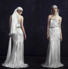 1920s WEDDING GOWNS | Be a 1920′s Gatsby Style Bride – Vintage Wedding Dress Ideas.