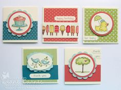 watercolour cards from scallop envelope die box  -colour me happy