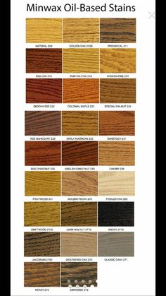 Zar Wood Stain Color Chart Pine Oak Ranch Bath In 2019