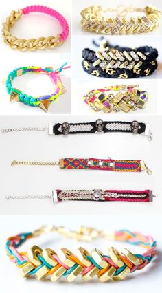 DIY Bracelets -not the best instructions. The pictures mostly serve as inspiration.