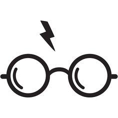 Harry Potter Glasses Die Cut Vinyl Decal PV458