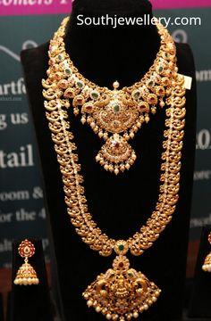 Gold Temple Jewellery, Gold Jewellery Design, India Jewelry, Jewelry Sets, Gold Jewelry Simple, Silver Jewelry, Bridal Jewelry, Silver Ring, Antique Jewelry