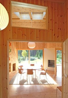 Love the blond wood and bright light in this Norwegian cabin!
