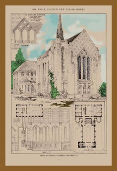 The Edward Cambell Church 12x18 Giclee on canvas