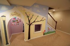 Under-the-stairs Playhouse - ingenious!!
