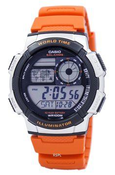 c18ab42f10ba Casio Youth Series Illuminator World Time Alarm AE-1000W-4BV Men s Watch  Authentic Watches