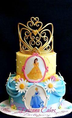 Disney Princesses Cake with Edible Tiara
