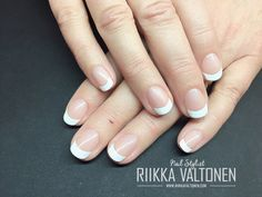 French Nails with gel polish on natural nails #nails #nailart #stockholm #handpaintednailart