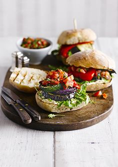 This recipe for allotment burgers is genius. The idea behind them is that you can grow many of these ingredients. Add what you've got in your garden or allotment. They're ready in under 30 minutes, are super-easy to put together and vegetarian.