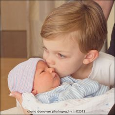 newborn and sibling | hospital photography | big brother | Mississippi newborn photographer