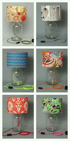 I Spy, Humblesticks Lamps Such fun accents of color to a room and I wonder if you can fill them with interesting things too! I Spy, Humblesticks Lamps Diy Bedroom Decor, Diy Home Decor, Edison Lampe, Deco Originale, I Love Lamp, Ideias Diy, Decoration Inspiration, Lamp Shades, Shades Window