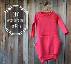 robe sweat fille DIY : une robe sweat pour fillette dress pink