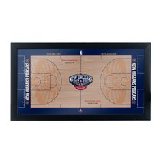 3ba8618d5 New Orleans Pelicans Official NBA Court 15 in. x 26 in. Black Framed Plaque