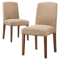 LIVING ROOM - Threshold Lennox Nailhead Dining Chair - Burlap - (Set of 2 = $170) - $85.