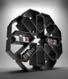 Amazing statement bookcase inspired by Islamic geometric design.