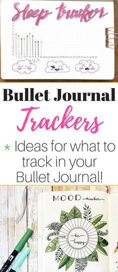 8 ways to use a Bullet Journal tracker plus tons of ideas of what to track! #bulletjournalcommunity #bujocommunity #tracker #bulletjournal