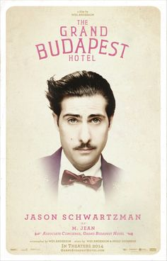 Jason Schwartzman as M. Jean ~ Associate Concierge, Grand Budapest Hotel #thegrandbudapesthotel